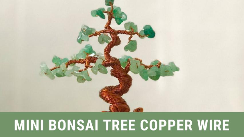 Mini Bonsai Tree Copper Wire