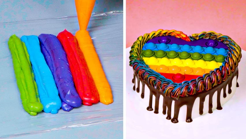 Satisfying Rainbow HEART Cake Decorating Ideas For Your Lover | Top Yummy Cake Tutorials