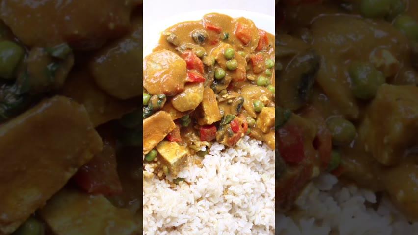 Vegan Thai Curry #shorts #youtubeshorts