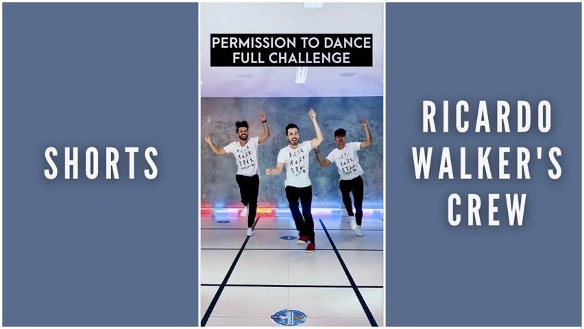 #BTS #PermissiontoDance Full Challenge By Ricardo Walker's Crew #Shorts #YoutubePartner