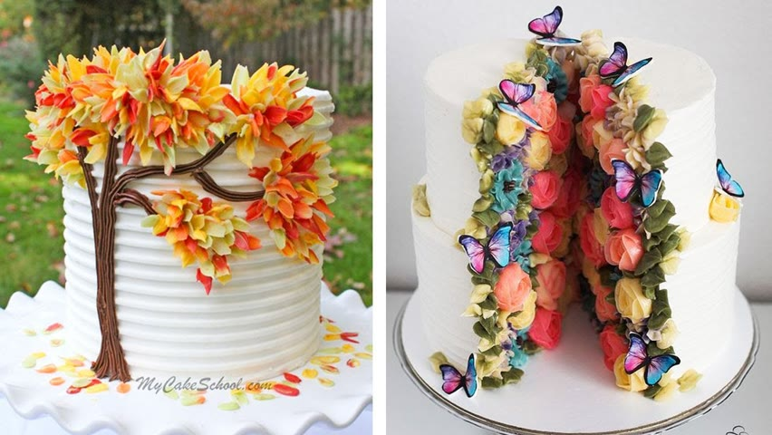 Easy Colorful Cake Decorating Ideas | Homemade Cake Tutorials For Your Family | So Tasty Cake