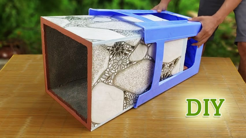 How to Make Pots from CERAMIC TILES and PLASTIC CHAIRS