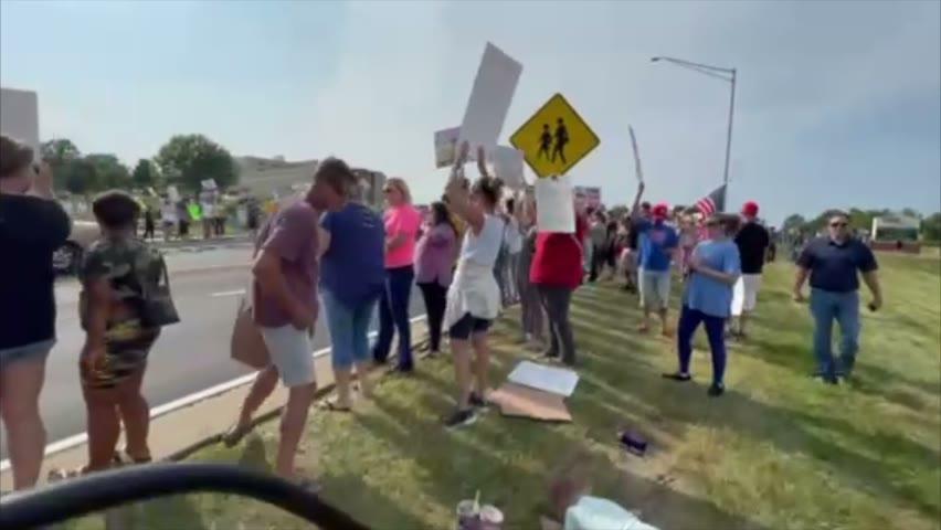 Massive Crowd Peaceful Protest St. Elizabeth Medical Center