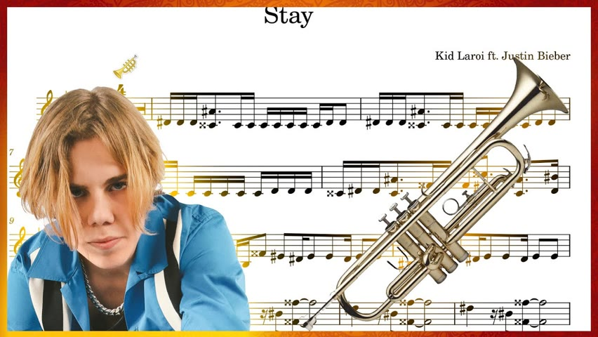 The Kid LAROI - STAY (Trumpet Sheet Music Play Along!) with Justin Bieber
