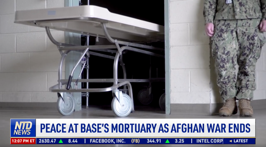 Peace at Base's Mortuary As Afghan War Ends