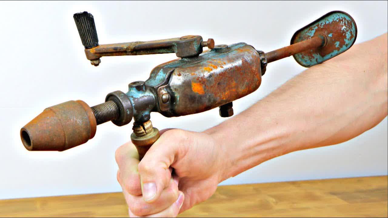 Restoration Abandoned Hand Drill - Perfect Restoration