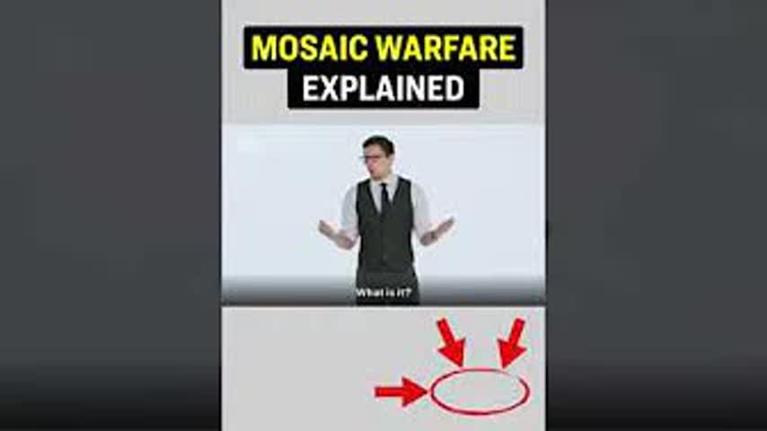 Mosaic Warfare Explained #Shorts