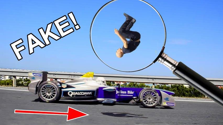 FAKE backflip over speeding car EXPOSED!
