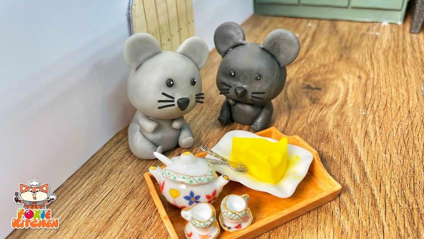 [ENG SUB] Tom & Jerry Cheese Cake [No Bake]   ASMR Mini Cooking