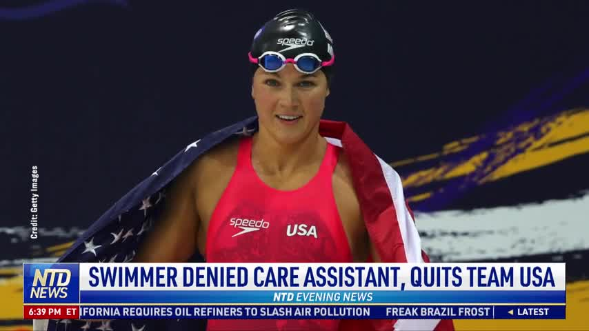 Swimmer Denied Care Assistant, Quits Team USA
