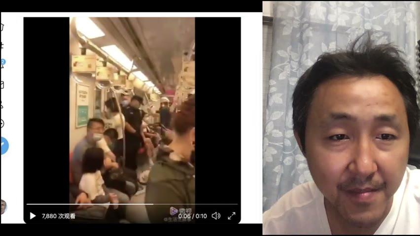 一节地铁车厢四个警察,中国为什么这么安全?你丢个钱包就知道了!