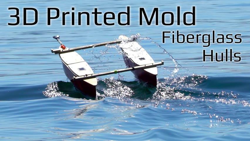 Building a Solar Powered Kayak Tug Boat - 3D Printed Mold