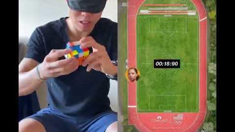 Rubik's Solve vs. Allyson Felix! (Olympics 2021)