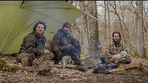 5 days bushcraft trip with DonVonGun and Morten Hilmer - spoon carving, hot tent, strong winds etc.