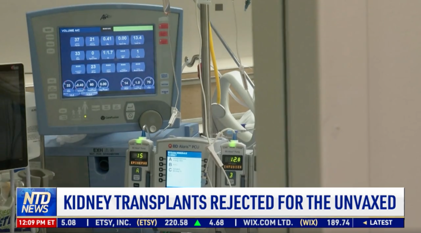 Kidney Transplants Rejected for the Unvaccinated