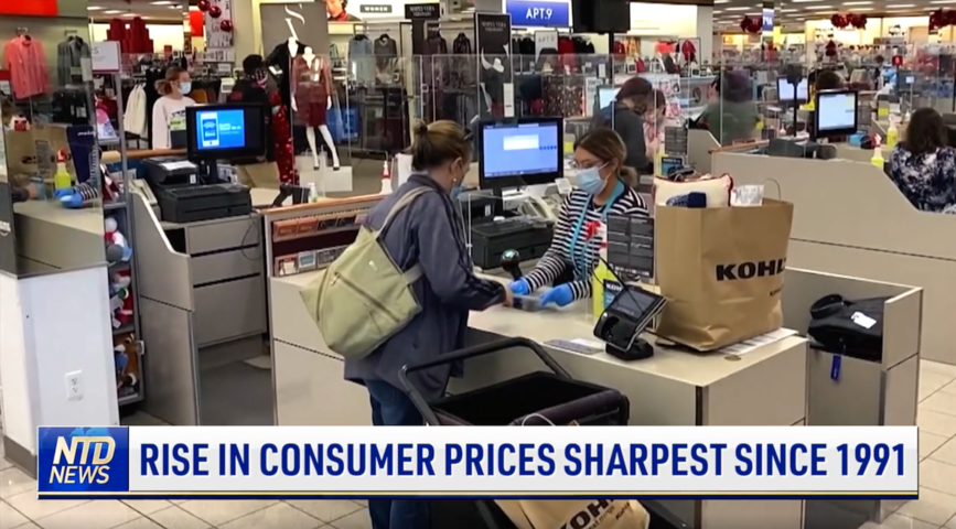 Rise in Consumer Prices Sharpest Since 1991