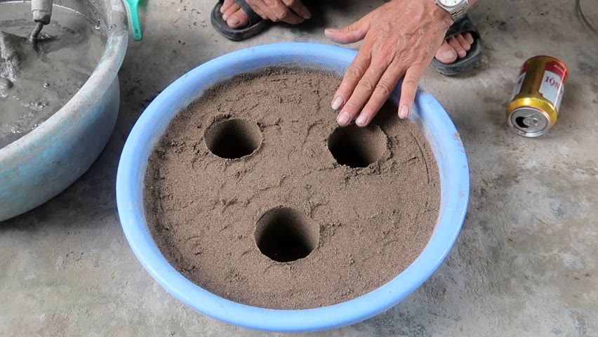 Design Flower Pot Beautiful and Easily - Creative Pot With Cement and Plastic Pipe