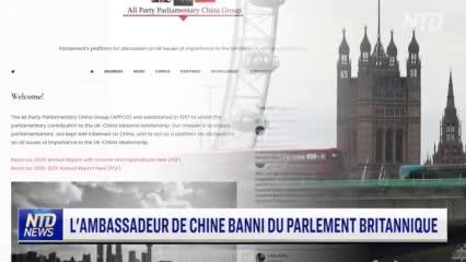 L'ambassadeur de Chine au Royaume Uni a été exclu du parlement