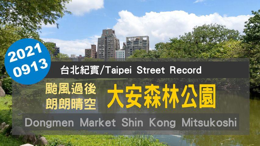 20210913 颱風過後晴朗天空的大安森林公園  Daan Forest Park  Street Walk Tour【台北紀實/Taipei Street Record】