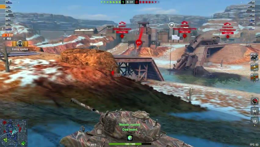 T26E5 6033DMG 3Kills   World of Tanks Blitz   ABN_TNKR