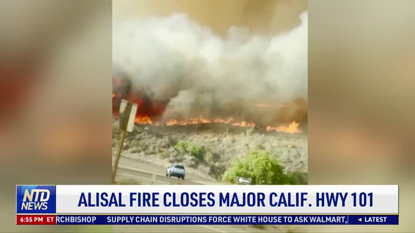 California Alisal Fire Forces Major Highway to Close