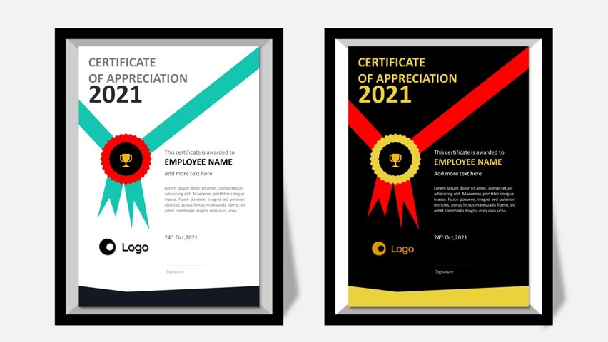 Create A4 size ready to print certificate in PowerPoint