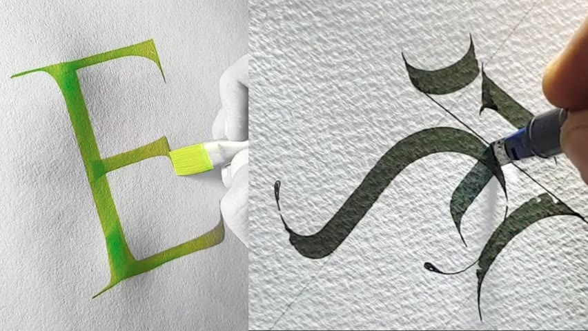 AMAZING CALLIGRAPHY AND LETTERING WITH A MARKER PEN AND A PENCIL | CALLIGRAPHY MASTERS
