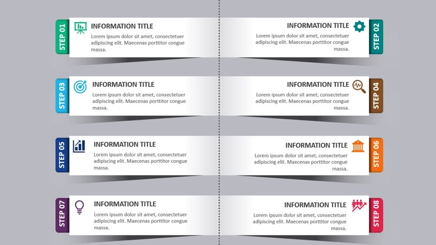 8 Rectangular shape Shadow Options Slide in PowerPoint
