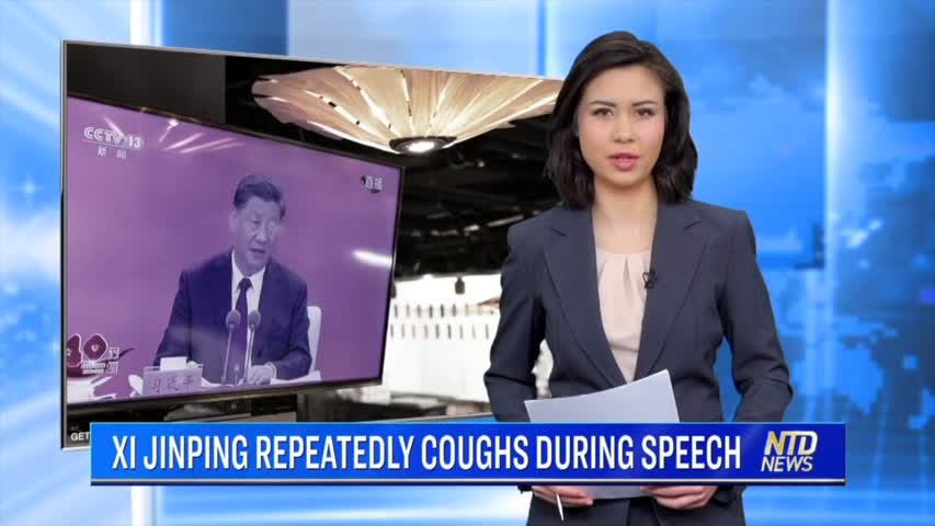 Xi Jinping Repeatedly Coughs During Speech