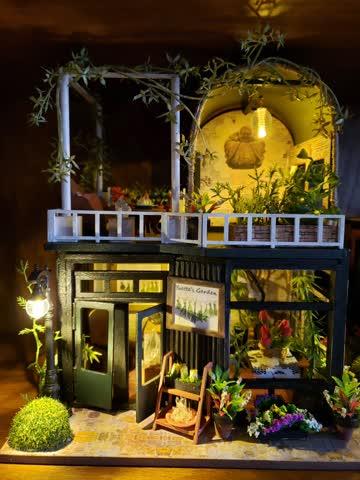 Yvette's garden miniature dollhouse