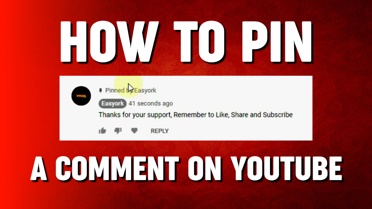 How to Pin A comment on youtube