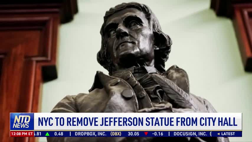 NYC to Remove Jefferson Statue From City Hall