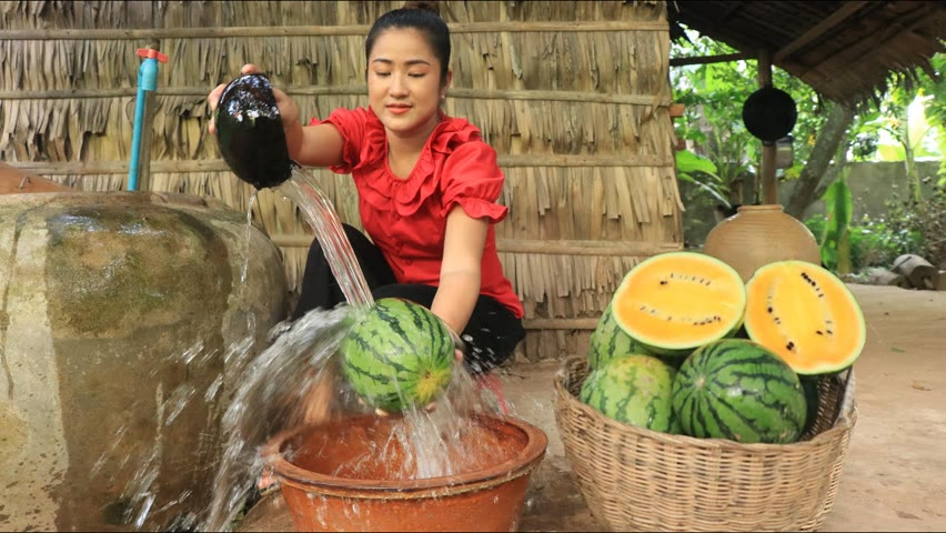 Countryside life TV: Have you ever eaten yellow watermelon? / Yellow watermelon recipe