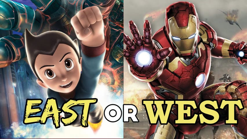 EAST or WEST: Which Superheroes Would Win?