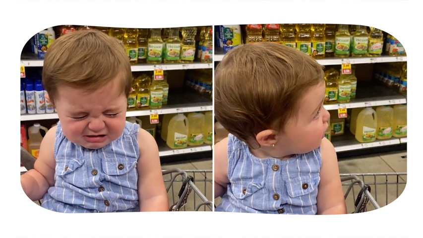 Baby Fakes Crying at Being Told No