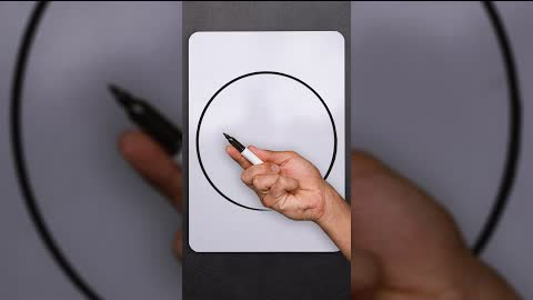 Learn to Draw a PERFECT CIRCLE #shorts