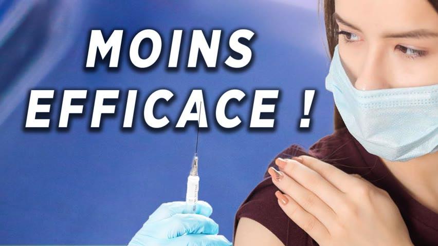 Pfizer affirme que l'efficacité du vaccin a diminué avec le temps