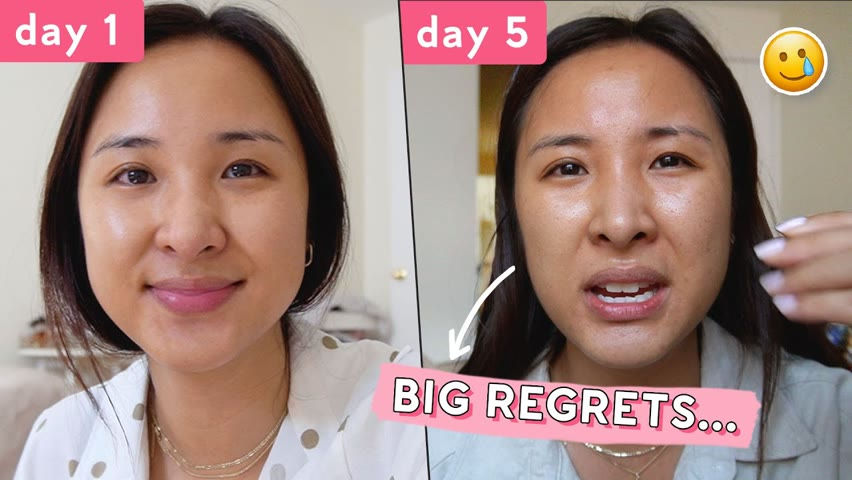 No Skincare for 1 Week. Do NOT try this at home...