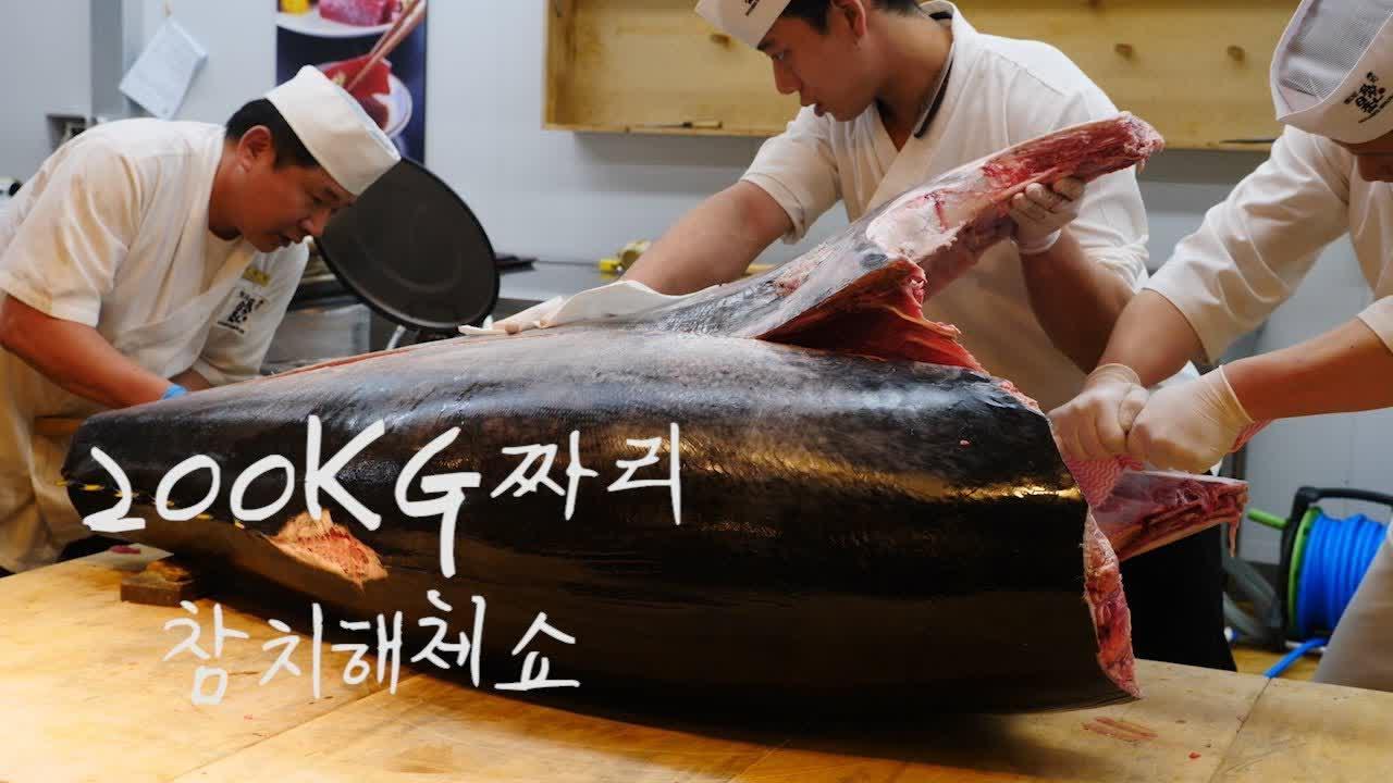 김씨마구로 참치해체쇼 / 노량진 수산시장 / Giant Tuna Cutting Show / Noryangjin Fish Market