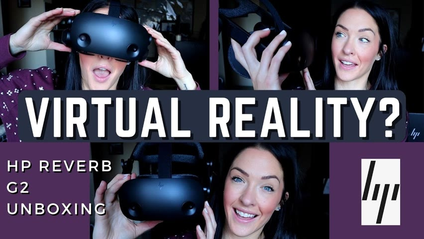 HP Reverb G2 Unboxing BRAND NEW VR HEADSET   FIRST Time Testing Virtual Reality Games!!