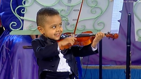 3 Year Old Akim Playing the Violin
