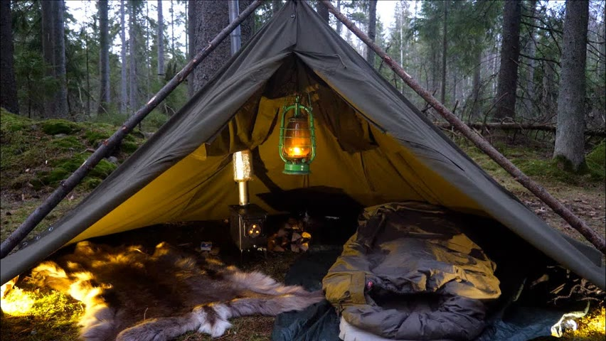 3 DAYS CANVAS LAVVU HOT TENT - AMMO CAN PIZZA - CATCH AND COOK