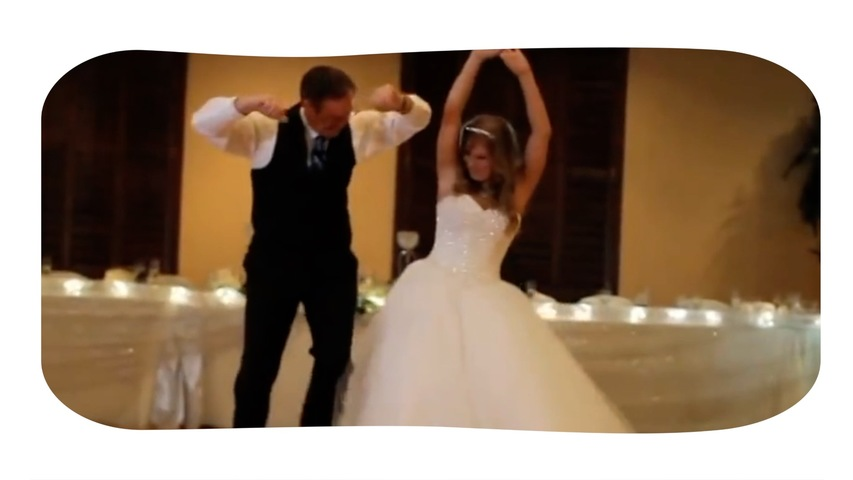 Bride and Her Dad Break out Surprise Dance Moves