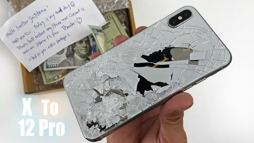 How to restore and Turn Destroyed iPhone x into an iPhone 12 pro with Awesome DIY Housing