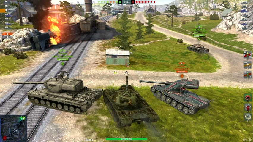 Chieftain Mk.6 & M103 & WZ-111-1G FT - World of Tanks Blitz