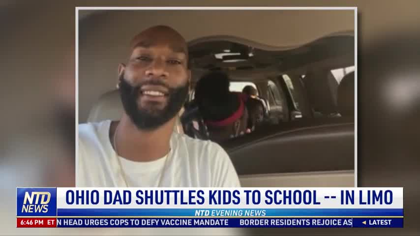 Ohio Dad Shuttles Kids to School in Limo