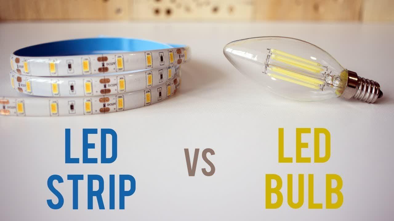 DIY Lighting Improvement - LED Strip vs LED Bulb