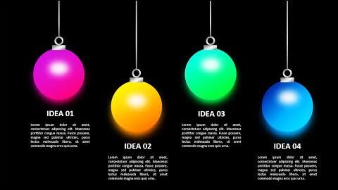 Glowing Idea Options Slide in PowerPoint