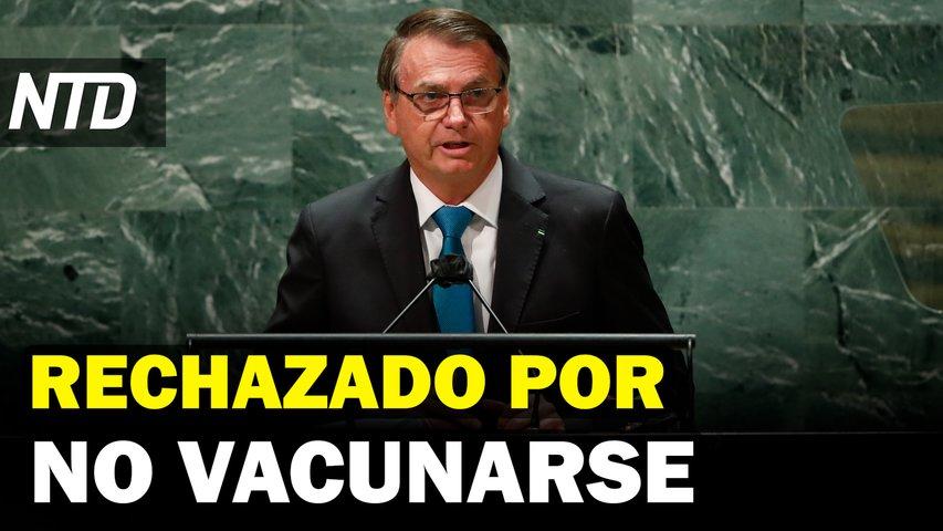Bolsonaro desata polémica en NYC por no vacunarse; Biden busca aumentar la vacunación mundial | NTD