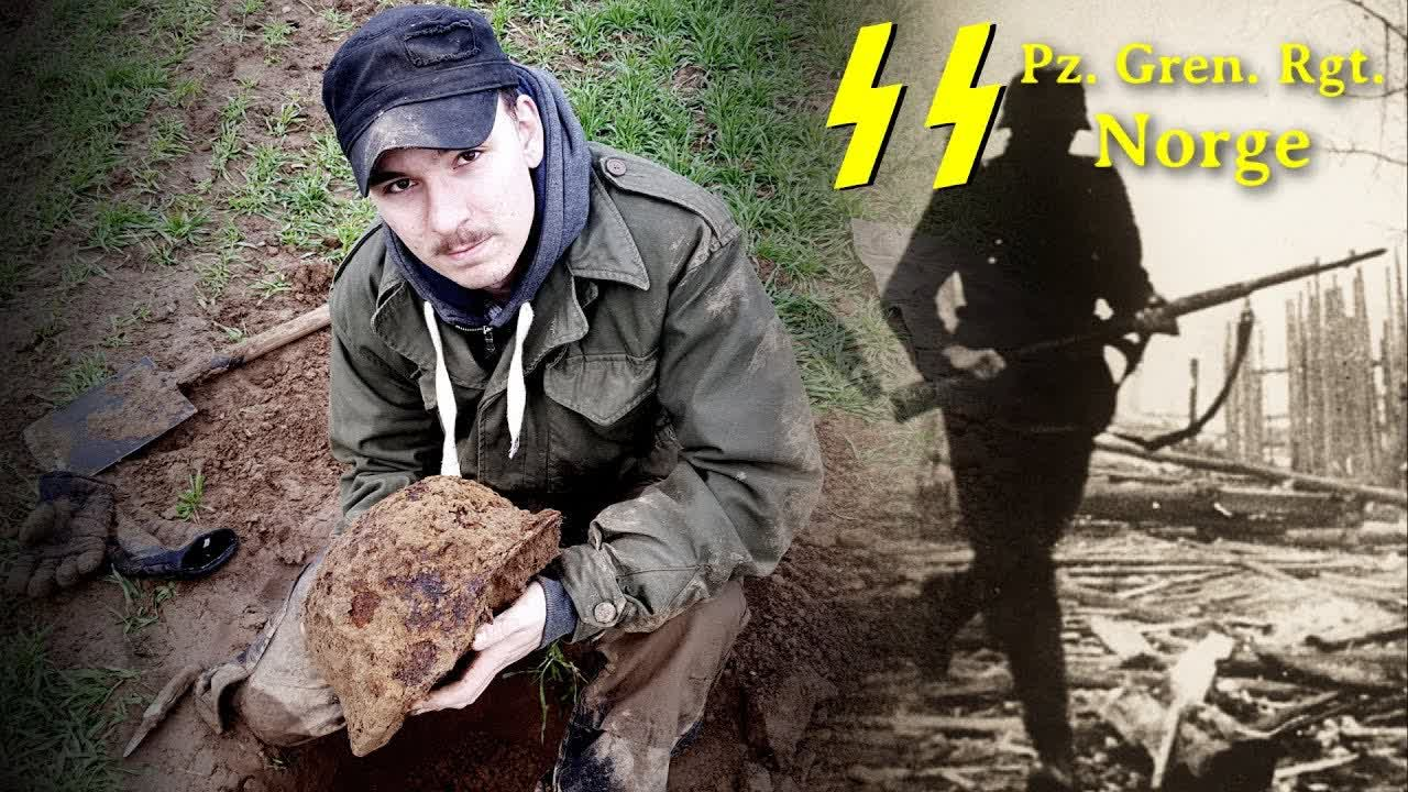 Metal Detecting WW2 - German Helmets - Waffen SS NORGE TAG [ HUGE WWII DUMP DISCOVERED ] - PART 2